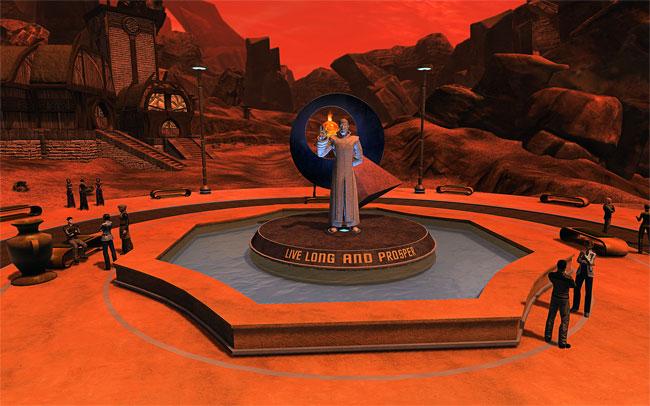 Die Statue auf Vulcan