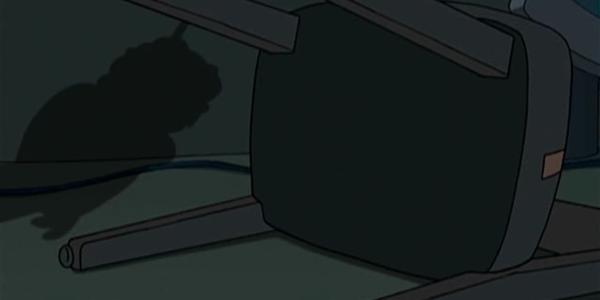 Nibblers Schatten in der ersten Episode
