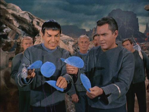 Spock die Grinsekatze in The Cage - Bild Paramound / CBS Studios